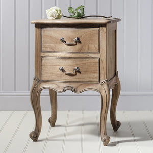 Genevieve Weathered Bedside Cabinet - Bedside Table