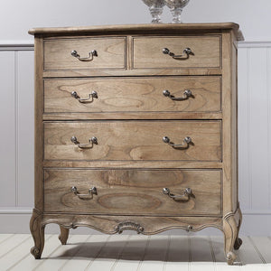 Genevieve Weathered Five Drawer Chest - Chest of Drawers