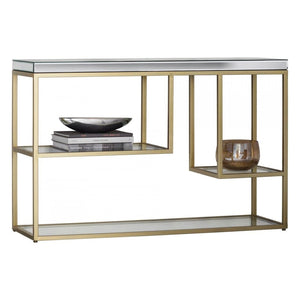 Gloria Mirrored Champagne Console Table - Console Table