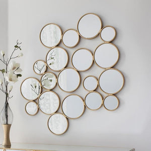 Gold Bubble Accent Mirror - Mirror