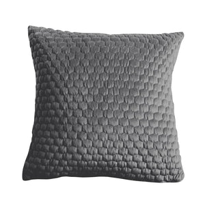 Honeycomb Quilted Cushion Grey - Cushion