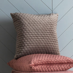 Honeycomb Quilted Cushion Taupe - Cushion