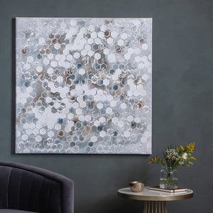 Honeycomb Textured Art Canvas - Framed Art