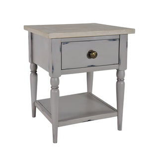 Kendal Grey Side Table - Bedside Table