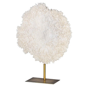 Large White Faux Coral on Stand - Ornament