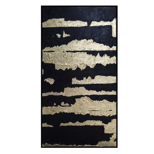Liang & Eimil Black and Gold Oil Paint Canvas - wall art