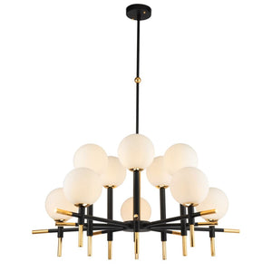Liang & Eimil Boca Antique Black and Polished Brass Ceiling Lamp - Ceiling Lamp