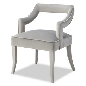 Liang & Eimil Calvin Horizon Grey Velvet Dining Chair - Dining Chairs