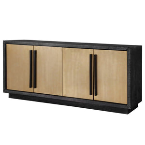 Liang & Eimil Camden Ebony Cerused Ash and Brushed Brass Sideboard - sideboard