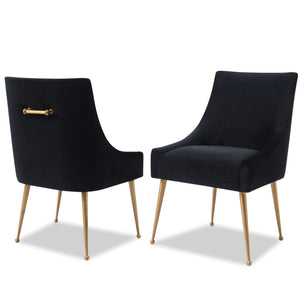 Liang & Eimil Cohen Black Velvet Dining Chair - Dining Chairs