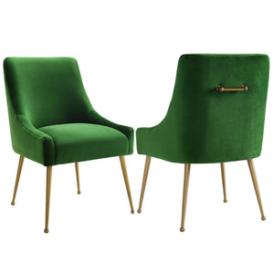 Liang & Eimil Cohen Green Velvet Dining Chair - Dining Chairs
