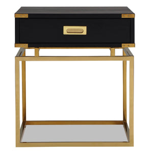 Liang & Eimil Genoa Black Ash and Brass Side Table - side table