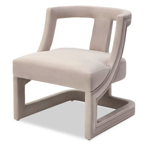 Liang & Eimil Jimi Limestone Velvet Chair - Accent Chair
