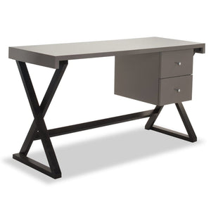 Liang & Eimil Manhattan Wenge Oak and Taupe Desk - Desk