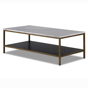 Liang & Eimil Max White Marble and Black Ash Coffee Table - Coffee Table