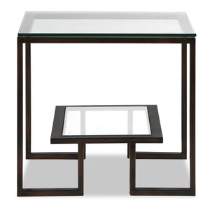 Liang & Eimil Mayfair Antique Bronze and Glass Side Table - side table