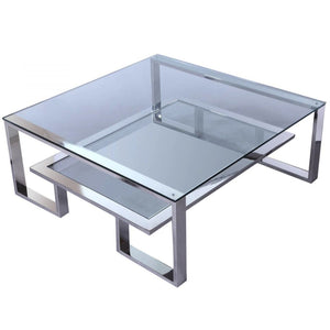 Liang & Eimil Mayfair Silver and Glass Coffee Table - Coffee Table