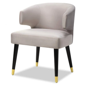 Liang & Eimil Mia Limestone Velvet Dining Chair - Dining Chairs