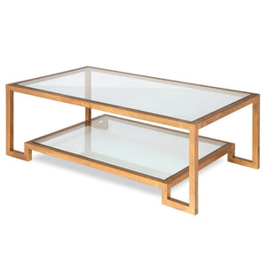 Liang & Eimil Ming Antique Gold and Glass Coffee Table - Coffee Table