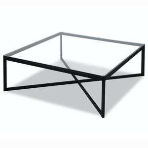 Liang & Eimil Musso Matt Black and Glass Coffee Table - Coffee Table