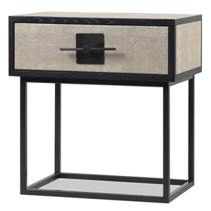 Liang & Eimil Noma Wenge Oak and Beige Shagreen Bedside Table - Bedside Table