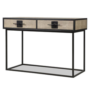 Liang & Eimil Noma Wenge Oak and Beige Shagreen Dressing Table - Dressing Table
