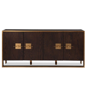 Liang & Eimil Ophir Dark Brown Oak & Brass Sideboard - sideboard