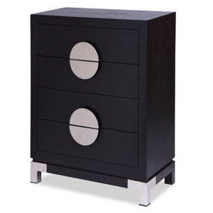Liang & Eimil Otium Black Ash and Silver Chest of Drawers - Chest of Drawers