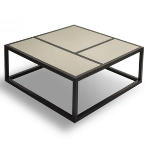 Liang & Eimil Roux Wenge Oak and Leather Coffee Table - Coffee Table