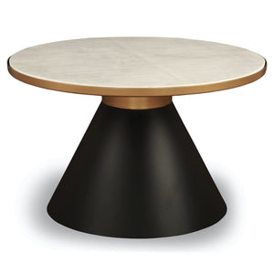 Liang & Eimil Tamon Black Gold and Marble Cocktail Coffee Table - Coffee Table