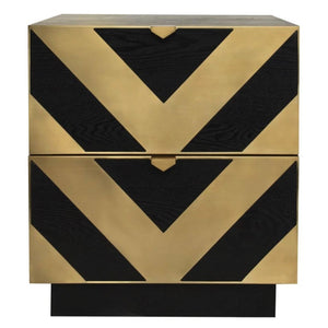 Liang & Eimil Unma Black Ash and Brass Bedside Table - Bedside Table