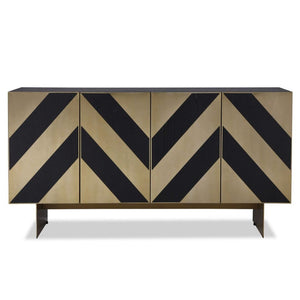Liang & Eimil Unma Black Ash and Brass Sideboard - sideboard