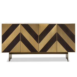 Liang & Eimil Unma Dark Brown and Brass Sideboard - sideboard