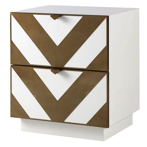 Liang & Eimil Unma White and Brass Bedside Table - Bedside Table