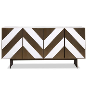 Liang & Eimil Unma White and Brass Sideboard - sideboard