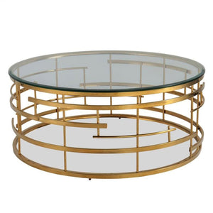 Liang & Eimil Viena Brass and Glass Coffee Table - Coffee Table