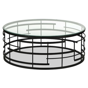 Liang & Eimil Viena Bronze and Glass Coffee Table - Coffee Table