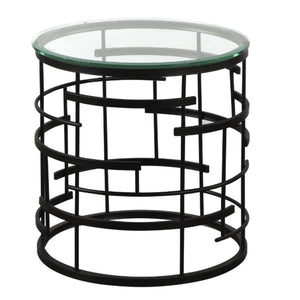 Liang & Eimil Viena Bronze and Glass Side Table - side table