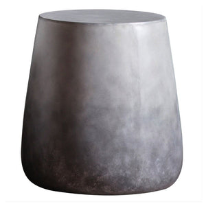Logan Ombre Grey Concrete Side Table - side table