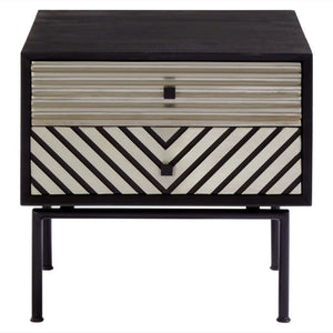 Lyric Boho 2 Drawer Bedside Table - Bedside Table
