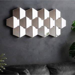 Mercer Faceted Wall Mirror - Wall Mirror