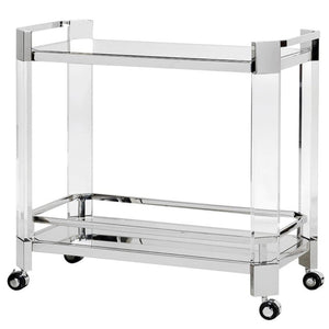 Milla Acrylic & Mirrored Shelf Drinks Trolley - Drink Trolley
