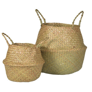 Natural Grass Baskets (Set of 2) - Baskets