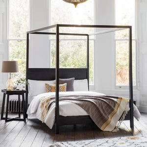 Nobu Boutique Black 4 Poster Bed - Bedframe