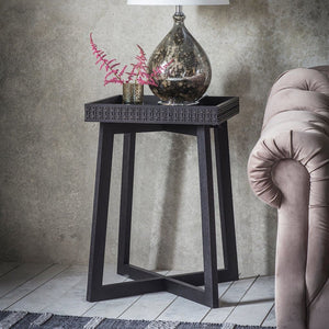 Nobu Boutique Black Mango Wood Side Table - side table