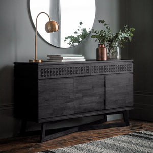 Nobu Boutique Black Mango Wood Sideboard - sideboard