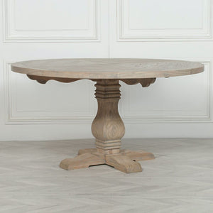 Payton Round Rustic Wooden Dining Table - Dining Table