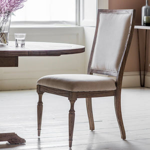 Quinn Natural Linen Dining Chair - Dining Chairs