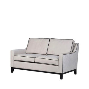 Rebel Cream 2-Seater Sofa with Black Piping - Sofa