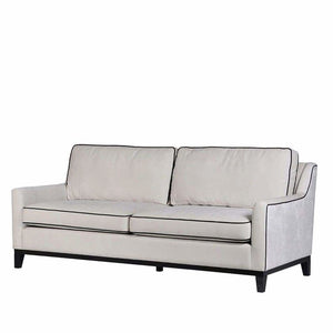 Rebel Cream 3-Seater Sofa with Black Piping - 3-Seater - Sofa